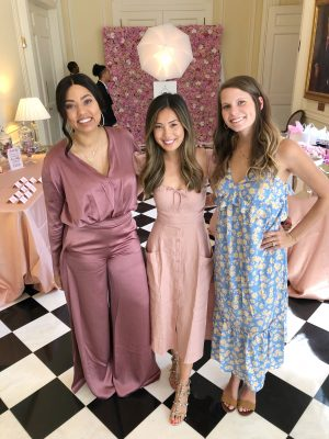 my two matrons of honor ayesha and meredith and my oh so amazing wedding planner kristi partnered up and gave me the most gorgeous bridal shower a girl